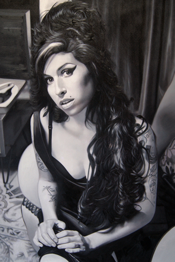 Oil Painting of Amy Winehouse