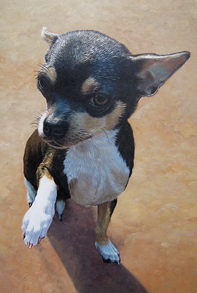 Oil painting of a chihuahua