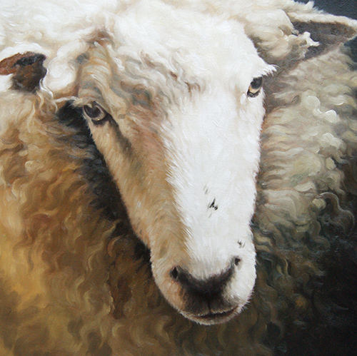 painting of a sheep